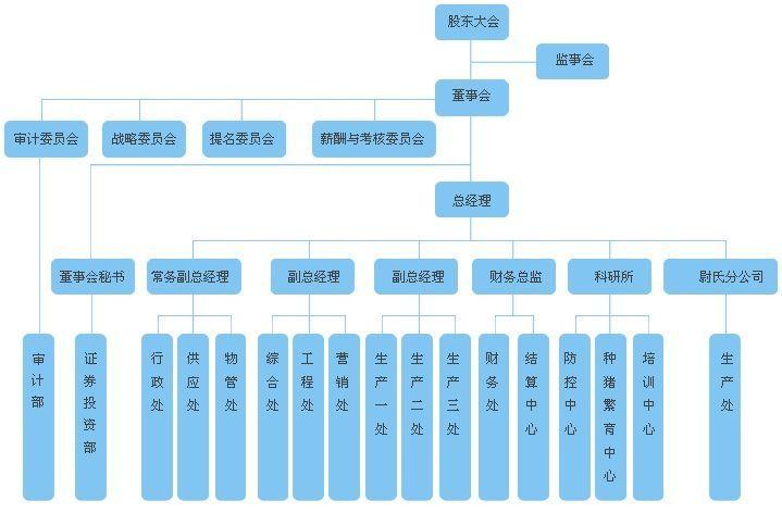 食品企业结构组织图