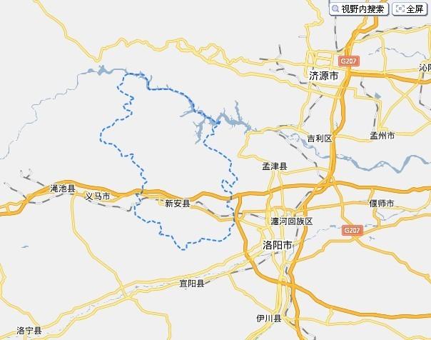 河南省新安县地图