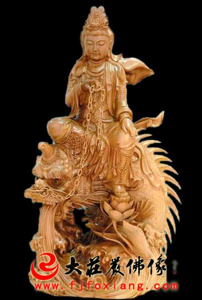 鳌鱼观音木雕