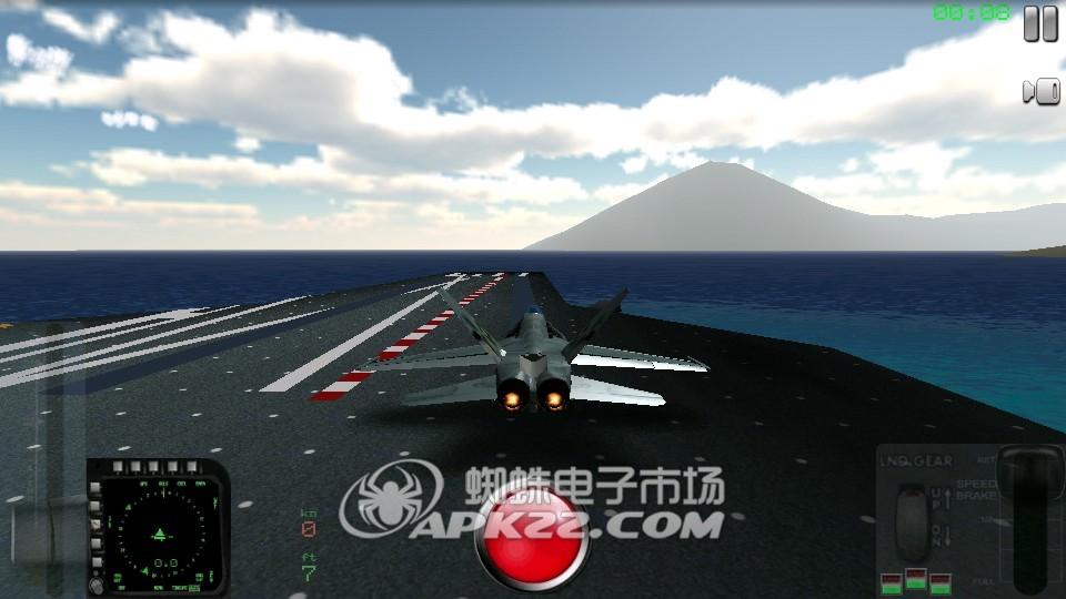 模拟这款知名战机在航空母舰上的起降和执行任务了,游戏中喷气式飞机