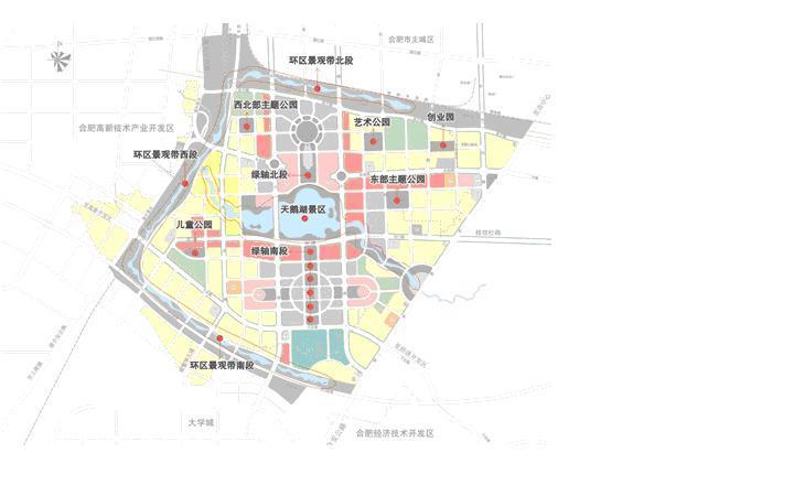 合肥空间结构规划图