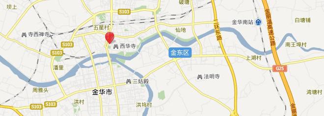 金华市江北地图