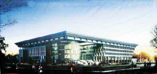 洛阳 新区 图书馆 位于 河南 科技大学开元校区