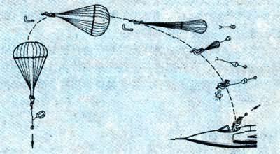 飞机降落伞简笔画