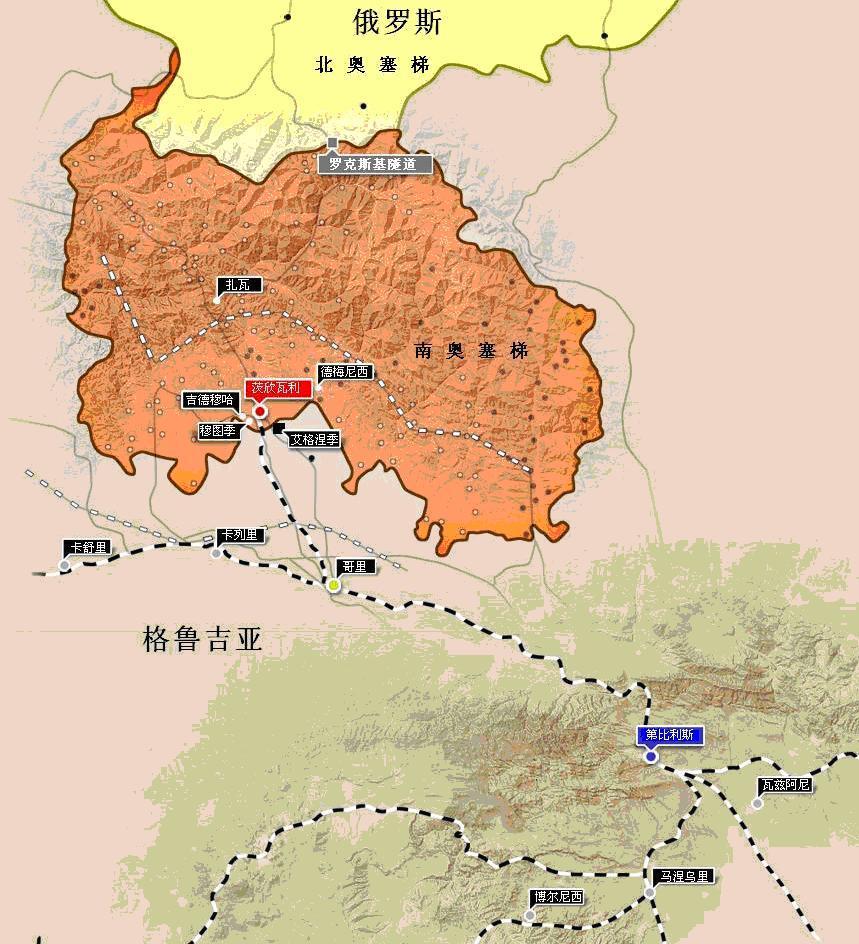 南奥塞梯成为了孟什维克派的格鲁吉亚民主共和