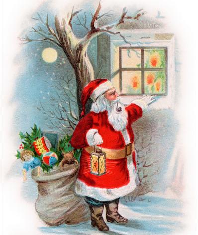 制作圣诞老人粘贴画
