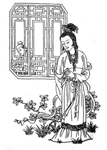 凤求凰设计图_中国吉祥图像