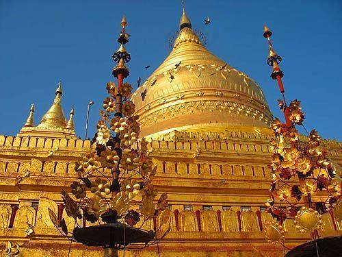 公元1369年白古国王朝耶宇迁都于此图片
