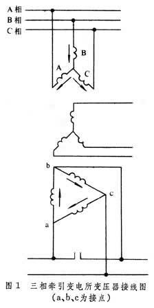 三相牵引变电所它的主变压器结构与一般三相电力